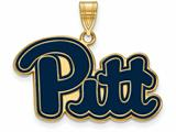 Logoart Sterling Silver Gp University Of Pittsburgh Large Enamel Pendant style: GP026UPI