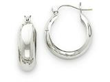 14k White Gold Hoop Earrings style: H328