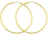 14k Polished Round Endless 2mm Hoop Earrings style: H987