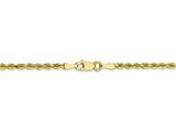 Finejewelers 10k 2.5mm Bright Cut Rope Chain Bracelet style: LES80039