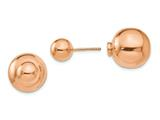 Finejewelers Sterling Silver Rose-tone Polished Front Back Earrings style: LESQLE942