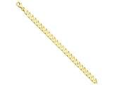 8 Inch 14k 7mm Hand-polished Fancy Link Chain Bracelet style: LK1498