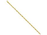 7.25 Inch 14k 3.7mm Polished Fancy Link Chain Bracelet style: LK421725