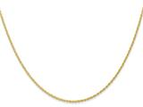 16 Inch 14k 1.1mm Baby Rope Chain style: PEN17316