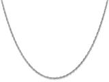 18 Inch 14k White Gold 1.3mm baby Rope Chain Necklace style: PEN9018