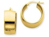 14k 9.5mm Polished Round Hoop Earrings style: PRE192