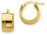 14k 7.25mm Polished Round Hoop Earrings style: PRE194