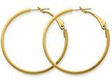 14k 3x30mm Polished Round Hoop Earrings style: PRE230
