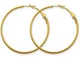 14k 3x35mm Polished Round Hoop Earrings style: PRE231