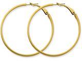 14k 3x40mm Polished Round Hoop Earrings style: PRE232