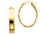 14k 5.75mm Polished Oval Hoop Earrings style: PRE235