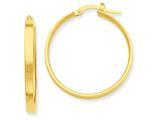 14k Yellow Gold Hoop Earrings style: PRE554