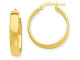 14k Yellow Gold Hoop Earrings style: PRE680