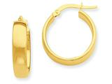 14k Yellow Gold Hoop Earrings style: PRE681