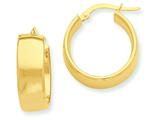 Finejewelers 14k Yellow Gold Hoop Earrings style: PRE683