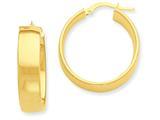 14k Yellow Gold Hoop Earrings style: PRE684