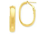 14k Oval Hoop Earrings style: PRE688