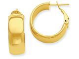 Finejewelers 14k Yellow Gold Hoop Earrings style: PRE734