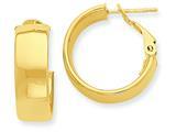 14k Hoop Earrings style: PRE736