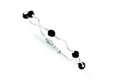 Sterling Silver With Black Swarovski Elements Beads Spiral Bracelet style: QB245
