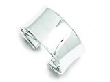 Sterling Silver 30mm Cuff Bangle Bracelet style: QB336