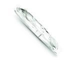 Sterling Silver 7mm Bright-cut Flexible Bangle style: QB615