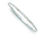 Sterling Silver Rhodium Bright Cut Polished Bangle style: QB676