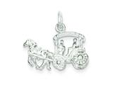 Finejewelers Sterling Silver Horse and Carriage Charm style: QC1035