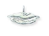 Sterling Silver Graduation Cap Charm style: QC177