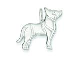 Sterling Silver Dog Charm style: QC2665