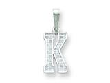 Sterling Silver Initial K Charm style: QC2762K