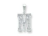 Sterling Silver Initial M Charm style: QC2762M