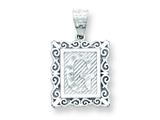 Sterling Silver Initial G Charm style: QC2770G