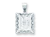 Sterling Silver Initial H Charm style: QC2770H