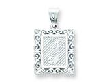 Sterling Silver Initial J Charm style: QC2770J