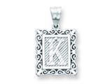 Sterling Silver Initial K Charm style: QC2770K