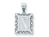 Sterling Silver Initial N Charm style: QC2770N