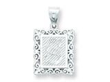 Sterling Silver Initial S Charm style: QC2770S