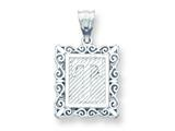 Sterling Silver Initial T Charm style: QC2770T