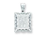 Sterling Silver Initial W Charm style: QC2770W