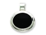 Sterling Silver Onyx Pendant Necklace - Chain Included style: QC2958