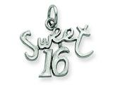 Sterling Silver Sweet 16 Charm style: QC344