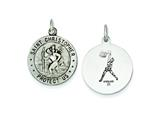 Sterling Silver St. Christopher Basketball Medal Pendant - Chain Included style: QC3574