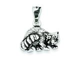 Sterling Silver Antiqued Racoon Charm style: QC4106