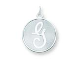 Sterling Silver Brocaded Initial G Charm style: QC4162G