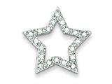 Sterling Silver Cubic Zirconia Star Pendant - Chain Included style: QC4431