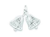 Sterling Silver Bells Charm style: QC4573