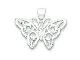 Sterling Silver Butterfly Pendant Necklace - Chain Included style: QC5007