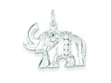 Sterling Silver Cubic Zirconia Elephant Charm style: QC5068
