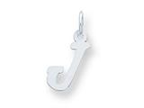 Sterling Silver Small Script Initial J Charm style: QC5080J